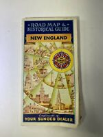 Vintage Sunoco Tour Guide Road Map 1950s New England Automobilia