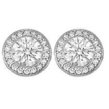 Vintage Design Round Cut Diamond 3.30 CT Earrings Set GIA Certified 18k Gold