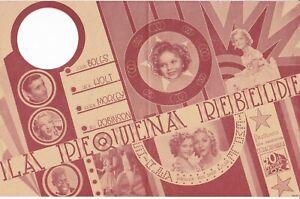 "SHIRLEY TEMPLE ""THE LITTLEST REBEL"" 1935 MOVIE HERALD"
