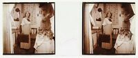 Donna Chassin Artista Foto PL47L18 Stereo Placca Da Lente Vintage c1920