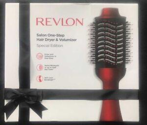 Revlon One Step Hair Dryer & Volumizer Brush Black red special edition No Box