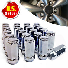 24 Chrome Truck Lug Nuts 14x1.5 Cone Seat for Chevrolet Silverado GMC Sierra