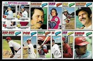 1977 OPC O PEE CHEE TOPPS MLB BASEBALL CARD + ERROR & VARIATION 1-132 SEE LIST