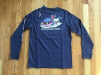 NWT Boy's Vineyard Vines LS Vineyard Vines Ski Racer Whale T-Shirt Size L Or XL