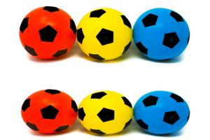 Pack of 6 17.5cm E-Deals Foam Sponge Football  Ball Soft Indoor Outdoor Soccer
