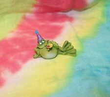 Adorable Douglas® Frog Toad Figurine with Party Hat and Party Horn Blow-Out