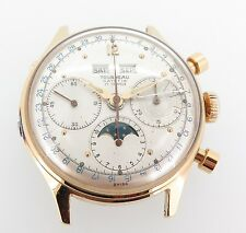 .Rare Tourneau Datofix 386 Mens Triple Calendar Moon Phase C. Val 88 Watch