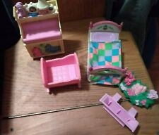 Fisher Price Loving Family Dollhouse Furniture Bedroom Baby's Room Window Box