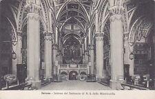 SAVONA CITTÀ 65 INTERNO CHIESA - ALTARE Cartolina viaggiata 1925
