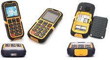 Téléphone Portable Enfant/Senior Robuste Etanche GSM Bluetooth Touche SOS Jaune