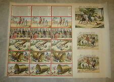 Old c.1900 French Game PRINT - Jeu Du Cheval Blanc - WHITE HORSE - Uncut SHEET