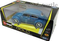 Bburago 1955 VW Volkswagen Kafer Beetle 1:18 Diecast Blue 18-12029
