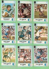 1977 SCANLENS RUGBY LEAGUE TEAM CARDS  -  CANTERBURY BANKSTOWN BULLDOGS