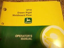 John Deere Operator'S Manual 3710 Drawn Rigid Moldboard Plow