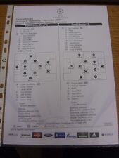 21/11/2012 Colour Teamsheet: Manchester City v Real Madrid [Champions league] (T
