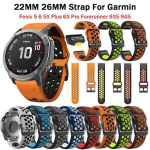 Silicone Quick Release Watchband Strap for Garmin Fenix 5 5X 5Plus 6 6X 6Pro 3HR