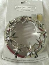 Yankee Candle Holiday Stars Jar Candle Topper Illuma Lid Silver Metal Star