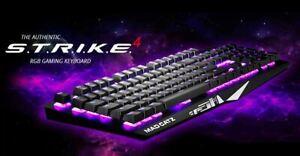 Mad Catz STRIKE 4 RGB Chameleon Mechanical Gaming Keyboard - Brand New RRP $239