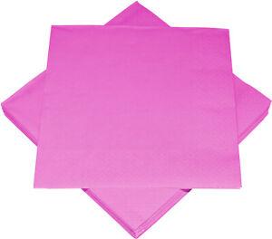 Servietten 33x33cm 3-lagig 20 Stück Pink Geburtstag Feier Hochzeit