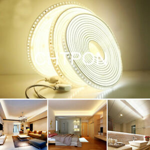 220V 110V LED Strip 2835 High Safety Brightness 120LEDs/m Light IP67 Waterproof