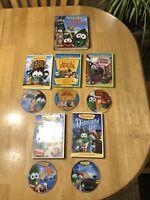 Lot of 5 VeggieTales Movies DVDs & Hardback Veggie Tales Bible Storybook