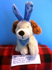 Sound N Light Brown and Tan Puppy with Blue Bunny Ears plush (310-2769)