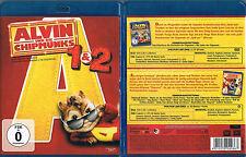 ALVIN UND DIE CHIPMUNKS 1 + 2 --- Blu-ray --- Double-Feature --- 2-Disc Set ---