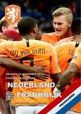 2018 NATIONS LEAGUE QUALIFIER NETHERLANDS HOLLAND v FRANCE A5 PROGRAMME