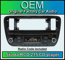 Skoda Citigo car stereo, Skoda RCD 215 CD MP3 player headunit with radio code