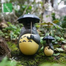 2pc Miniature Totoro Figure Hold Umbrella Fairies Miniature, Ghibli Studio Fairy