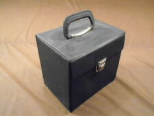 """VINTAGE RECORD CARRYING/STORAGE CASE HOLDS 50+ 7"""" 45`S EX+ COND. BLACK"""
