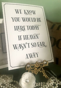 Heaven Sign A4 Vintage, cream or white. Wedding / Party