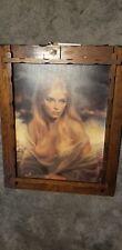 "1970's  Joseph Wallace King ""Vinciata"" movement Girl of Valdarno print in deco"
