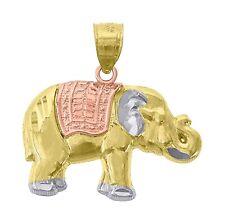 Elephant Pendant 14k Multi Tone Gold - Elephant 14k Gold Charm
