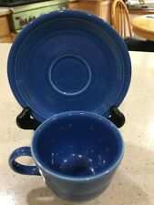 Fiesta Blue Cup & Saucer Set Coffee Tea Homer Laughlin Fiesta Ware