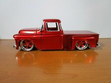 JADA 1/24 OLDSKOOL CANDY RED 1955 CHEVY STEPSIDE TRUCK USED *ISSUE* NO BOX