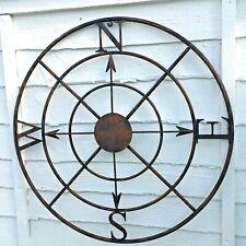 Ornamental Metal Compass Wall Art