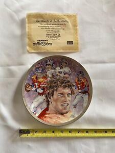 John Elway Sports Impressions Plate Denver Broncos 2806/5000 Platinum Ed 8.5 JM