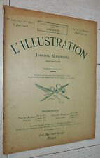 L'ILLUSTRATION N°3406 1908 FALLIERES ROI MANUEL PORTUGAL MAROC AVIATION PMU ZOLA
