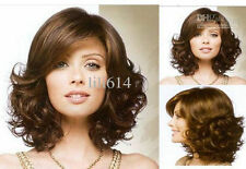 USJF946  charmed short  dark brown curly hair wigs for women wig