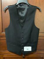 Calvin Klein men's black dress vest Hailey, small