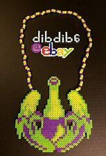 Dada Life perler kandi necklace, EDC, rave, PLUR, art