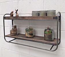 Metal Wall Shelf Industrial Style Vintage Rustic Storage Unit Rack