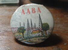 Unusual maybe RARE Radio History Pinback AABA radio Towers / Broadcasters c1920s