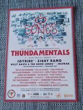 THUNDAMENTALS - 2018 AUSTRALIAN TOUR - LAMINATED TOUR POSTER - I LOVE SONGS TOUR