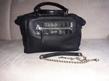 NEW! MANGO small chic Tote bag in black with detachable chain strap