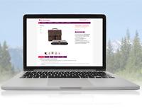 eBay Vorlage 2021 Responsive Template magenta/violett verschiedene Branchen