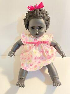 Vintage Large Doll - Beautiful dark skinned doll - Precious - Soft Body 62 cm