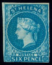 MOMEN: ST HELENA SG #1 1856 IMPERF MINT OG H LOT #60408