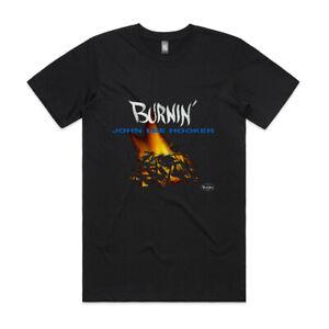 """John Lee Hooker Burnin Album Cover T-Shirt & 3""""x3"""" Sticker"""
